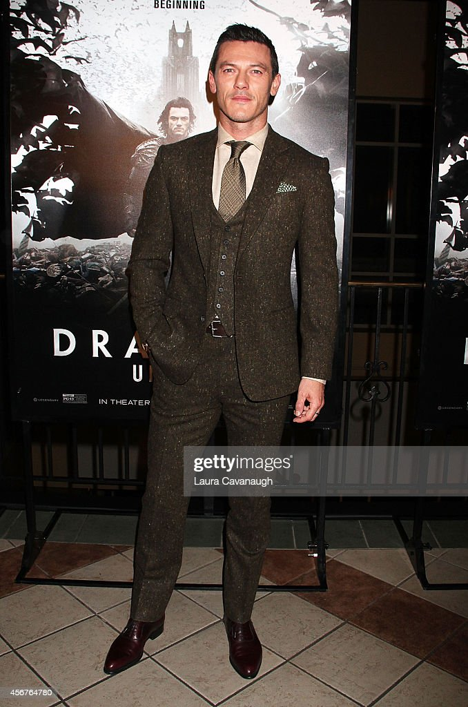 Luke Evans attends 'Dracula Untold' New York Premiere at AMC Loews 34th Street 14 theater on October 6, 2014 in New York City.