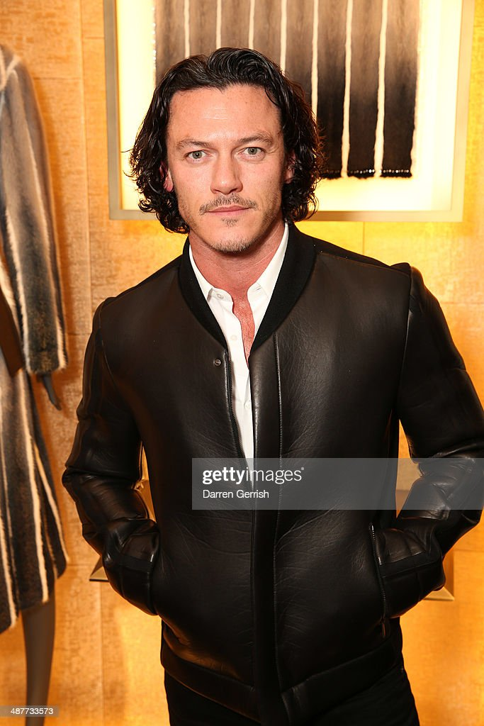 Luke Evans attends the Fendi Flagship store launch at Fendi on May 1, 2014 in London, England.