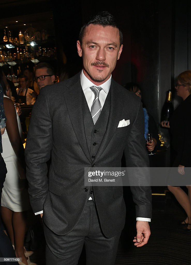 <a gi-track='captionPersonalityLinkClicked' href=/galleries/search?phrase=Luke+Evans+-+Actor&family=editorial&specificpeople=7174812 ng-click='$event.stopPropagation()'>Luke Evans</a> attends the GQ and Hackett Pre-BAFTA party, celebrating Hackett's fifth year as the Official Menswear Stylist to the EE British Academy Film Awards, at The Savoy Hotel on February 12, 2016 in London, England.