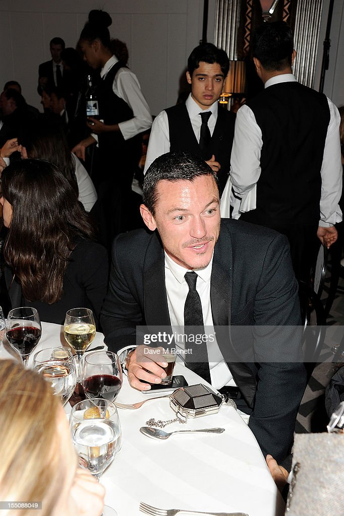 (MANDATORY CREDIT PHOTO BY DAVE M BENETT/GETTY IMAGES REQUIRED) Luke Evans attends the Harper's Bazaar Women of the Year Awards 2012, in association with Estee Lauder, Harrods and Tiffany & Co., at Claridge's Hotel on October 31, 2012 in London, England.