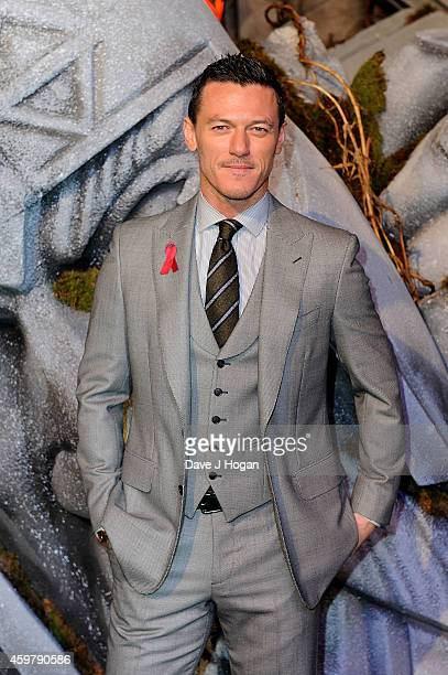 Luke Evans attends 'The Hobbit The Battle Of The Five Armies' World Premiere at Odeon Leicester Square on December 1 2014 in London England