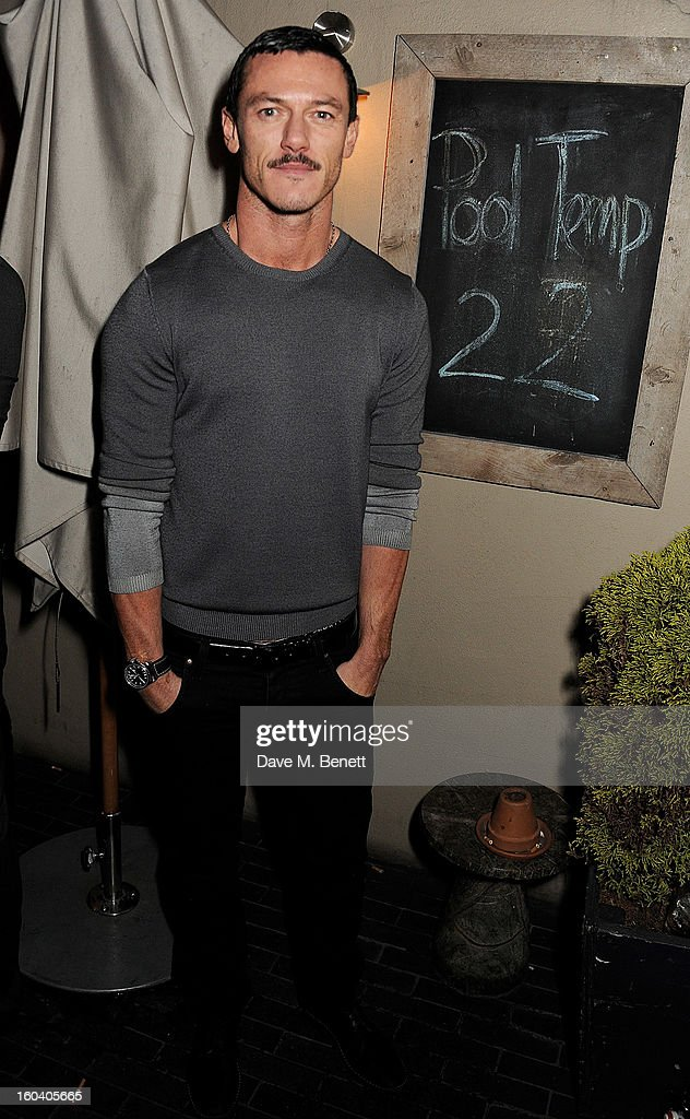 Luke Evans attends the InStyle Best Of British Talent party in association with Lancome and Avenue 32 at Shoreditch House on January 30, 2013 in London, England.