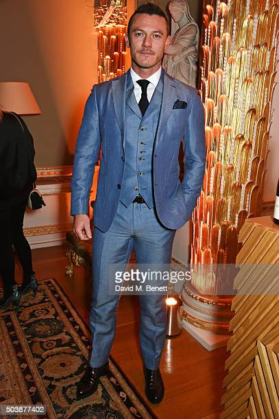 Luke Evans attends the London Collections Men AW16 opening party hosted by the British Fashion Council and GQ Editor Dylan Jones at Spencer House on...