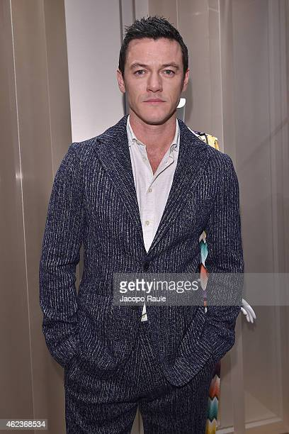 Luke Evans attends the Missoni opening store at 219 Rue Saint Honore during the Paris Fashion Week Haute Couture Spring/Summer 2015 on January 27...