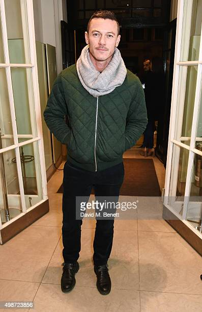 Luke Evans attends the Stella McCartney Christmas Lights switch on at the Stella McCartney Bruton Street Store on November 25 2015 in London England