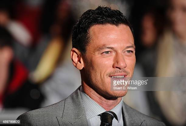 Luke Evans attends the World Premiere of 'The Hobbit The Battle OF The Five Armies' at Odeon Leicester Square on December 1 2014 in London England