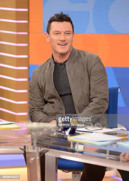 AMERICA Luke Evans is a guest on 'Good Morning America' Tuesday February 14 2017 on the ABC Television Network LUKE