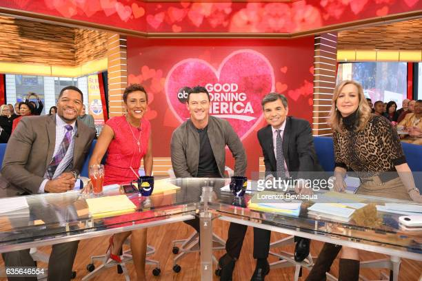 AMERICA Luke Evans is a guest on 'Good Morning America' Tuesday February 14 2017 on the ABC Television Network MICHAEL