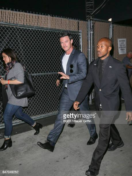 Luke Evans is seen at 'Jimmy Kimmel Live' on March 01 2017 in Los Angeles California