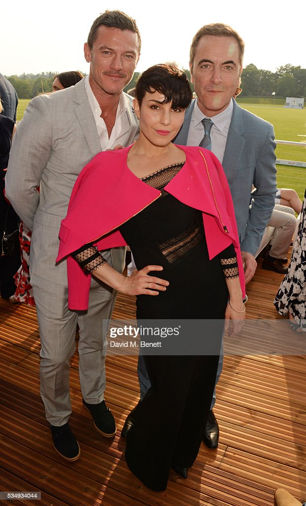 <a gi-track='captionPersonalityLinkClicked' href=/galleries/search?phrase=Luke+Evans+-+Actor&family=editorial&specificpeople=7174812 ng-click='$event.stopPropagation()'>Luke Evans</a>, <a gi-track='captionPersonalityLinkClicked' href=/galleries/search?phrase=Noomi+Rapace&family=editorial&specificpeople=4522889 ng-click='$event.stopPropagation()'>Noomi Rapace</a> and <a gi-track='captionPersonalityLinkClicked' href=/galleries/search?phrase=James+Nesbitt&family=editorial&specificpeople=211175 ng-click='$event.stopPropagation()'>James Nesbitt</a> attend day one of the Audi Polo Challenge at Coworth Park on May 28, 2016 in London, England.
