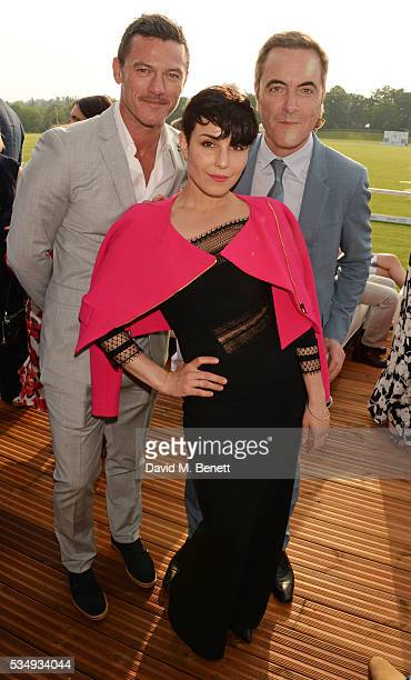 Luke Evans Noomi Rapace and James Nesbitt attend day one of the Audi Polo Challenge at Coworth Park on May 28 2016 in London England