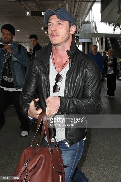 Luke Evans seen at LAX on February 27 2015 in Los Angeles California