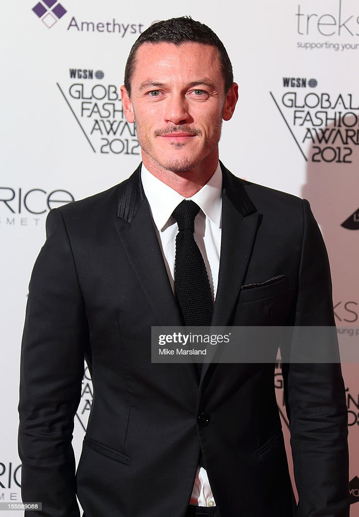 Luke Evens poses in the awards room at the WGSN Global Fashion Awards at The Savoy Hotel on November 5, 2012 in London, England.