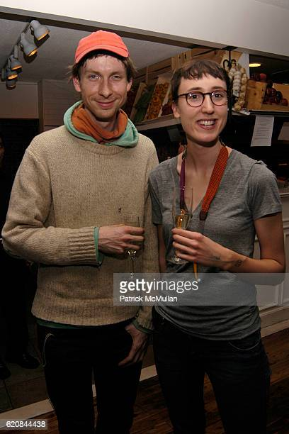 Luke Fischbeck and Sarah Rara attend Whitney Biennial Artists Party at Trata Estiatoria on March 8 2008 in New York City
