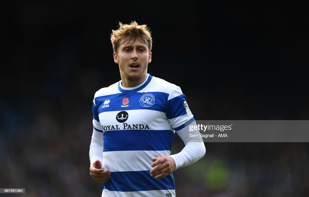 Luke Freeman of Queens Park Rangers during the Sky Bet Championship match between Queens Park Rangers and Wolverhampton at Loftus Road on October 28, 2017 in London, England.