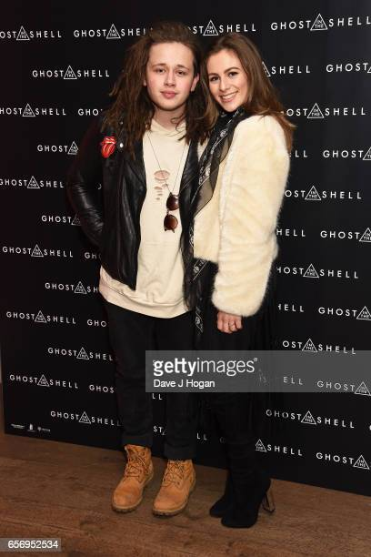 Luke Friend and Steph Elswood attend the UK gala screening of Ghost in the Shell on March 23 2017 in London United Kingdom