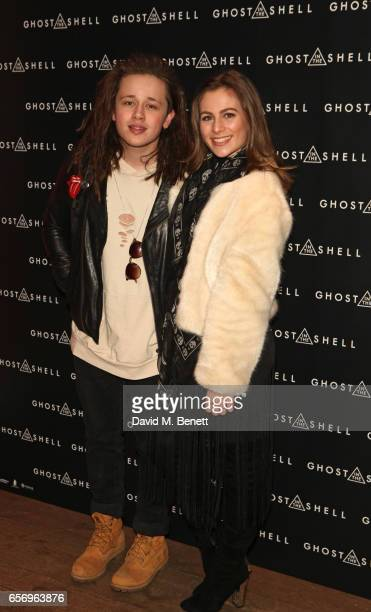 Luke Friend and Steph Elswood attend the UK Gala Screening of 'Ghost In The Shell' at The Ham Yard Hotel on March 23 2017 in London England