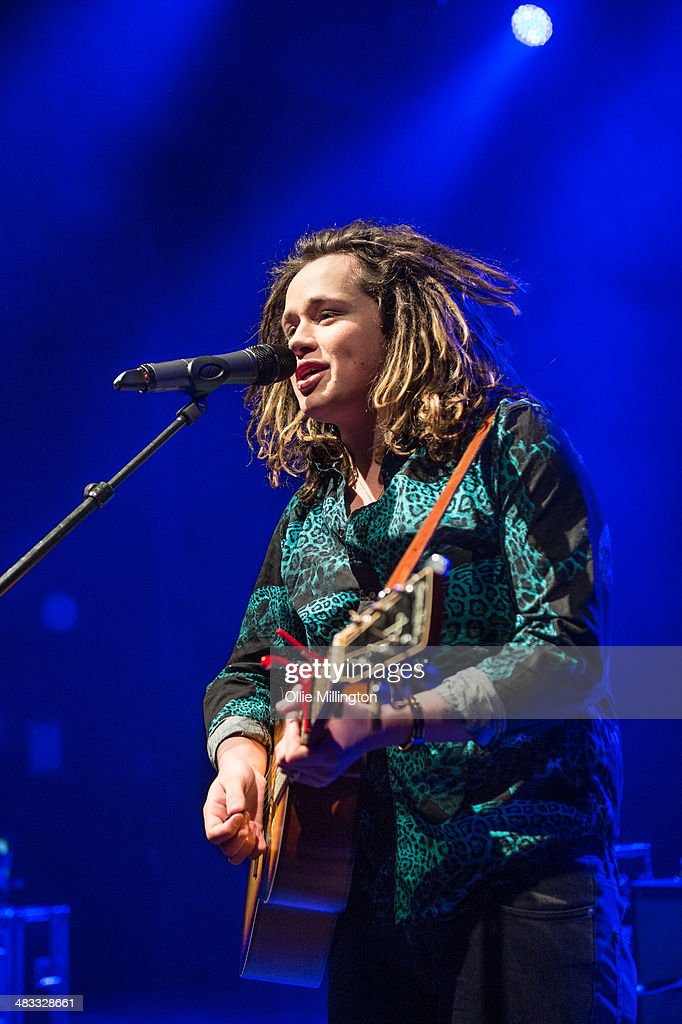 Luke Friend performs on stage at The Vamps 'Last Night' single launch party at Shepherds Bush Empire on April 7, 2014 in London, United Kingdom.