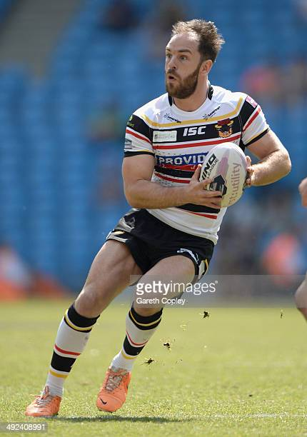 Luke Gale of Bradford Bulls in action during the Super League match between Huddersfield Giants and Bradford Bulls at Etihad Stadium on May 18 2014...