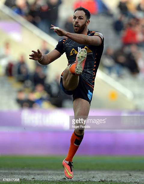 Luke Gale of Castleford Tigers during the Super League match between Castleford Tigers and Wakefield Trinity Wildcats at St James' Park on May 31...