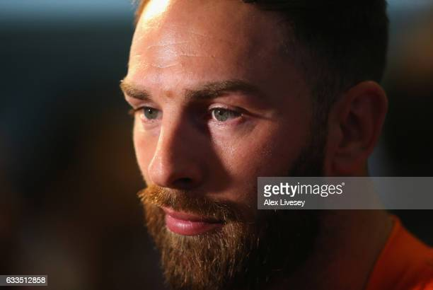 Luke Gale of Castleford Tigers faces the media during the Rugby League 2017 Season Launch at Leigh Sports Village on February 2 2017 in Leigh Greater...