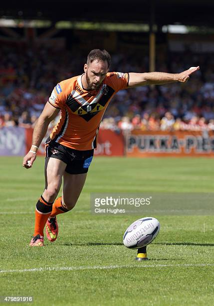 Luke Gale of Castleford Tigers in action during the First Utility Super League match between Castleford Tigers and Widnes Vikings at The Jungle on...