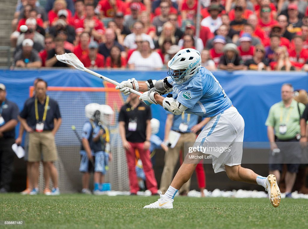 Luke Goldstock #1 of the North Carolina Tar Heels scores a goal Maryland Terrapins in the NCAA Division I Men's Lacrosse Championship at Lincoln Financial Field on May 30, 2016 in Philadelphia, Pennsylvania.