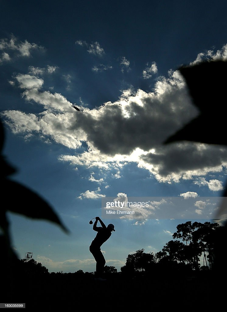 Luke Guthrie hits his tee shot on the 11th hole during the final round of the Honda Classic at PGA National Resort and Spa on March 3, 2013 in Palm Beach Gardens, Florida.