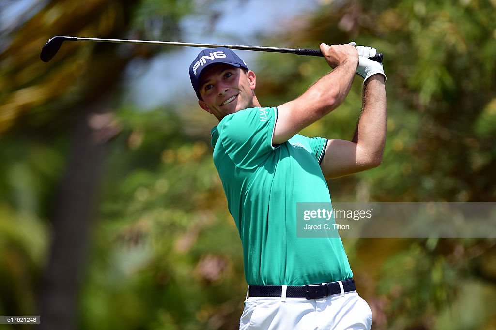 Luke Guthrie tees off on the fourth hole during the third round of the Puerto Rico Open at Coco Beach on March 26, 2016 in Rio Grande, Puerto Rico.