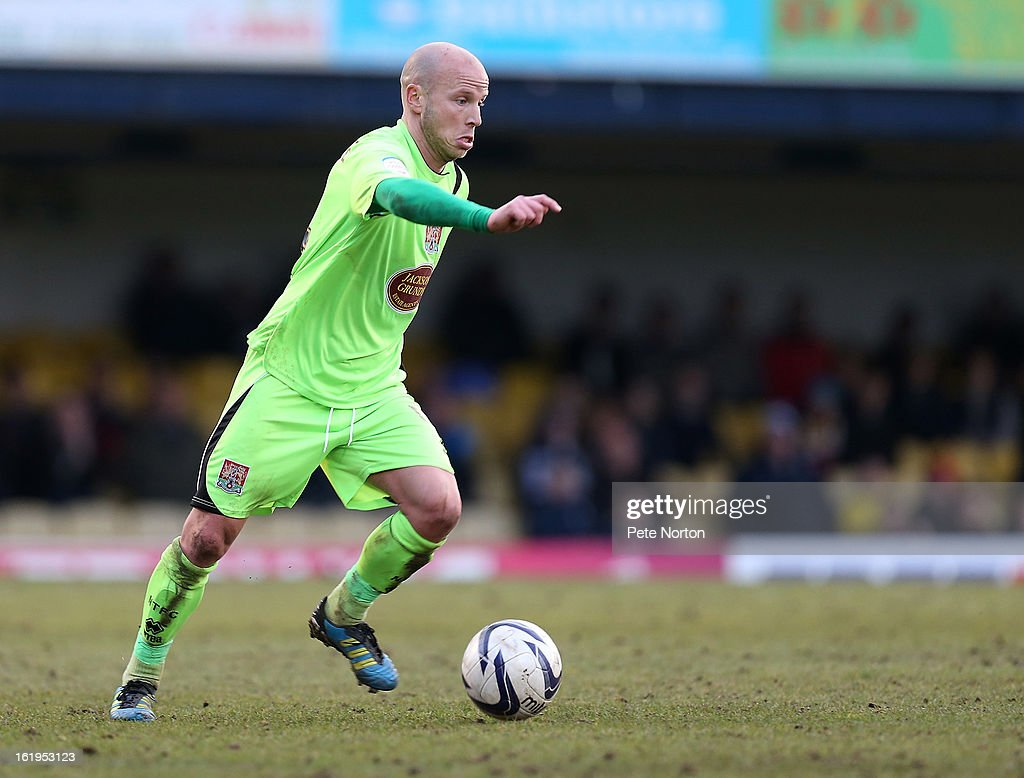 Luke Guttridge of Northampton Town in action during the npower League Two match between Southend United and Northampton Town at Roots Hall on February 16, 2013 in Southend, England.