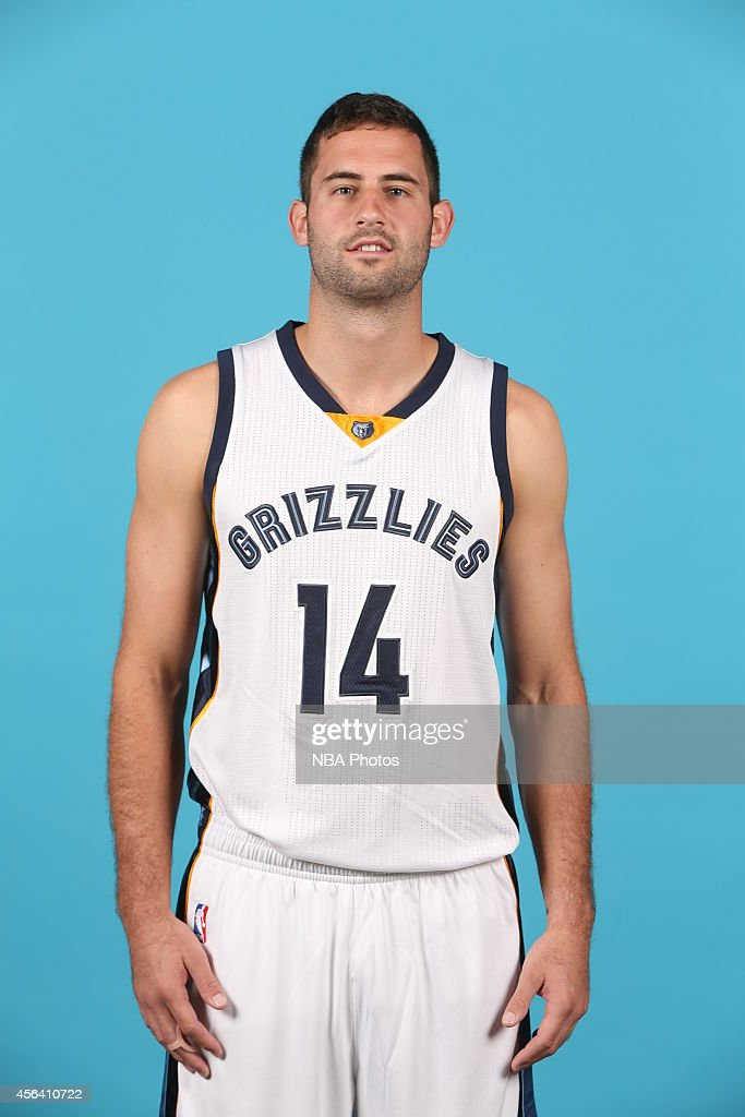 <a gi-track='captionPersonalityLinkClicked' href=/galleries/search?phrase=Luke+Hancock&family=editorial&specificpeople=6560051 ng-click='$event.stopPropagation()'>Luke Hancock</a> #14 of the Memphis Grizzlies poses for a portrait during Memphis Grizzlies Media Day on September 29, 2014 at FedExForum in Memphis, Tennessee.