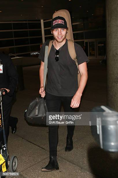 Luke Hemmings is seen at LAX on January 19 2016 in Los Angeles California