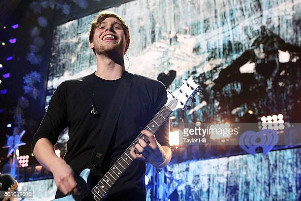 Luke Hemmings of 5 Seconds of Summer performs during the 2015 Z100 Jingle Ball at Madison Square Garden on December 11 2015 in New York City