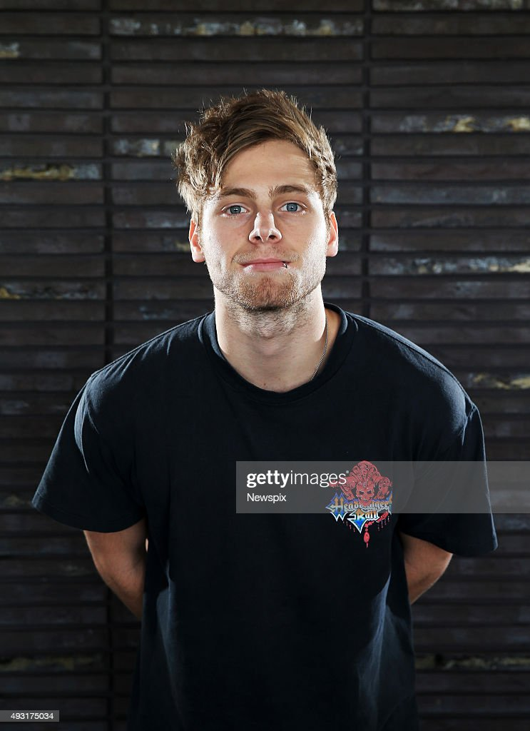 Luke Hemmings of Australian band '5 Seconds of Summer' (5SOS) poses during a photo shoot at Universal Music offices in Sydney, New South Wales ahead of the launch of their second album, 'Sounds Good Feels Good'.