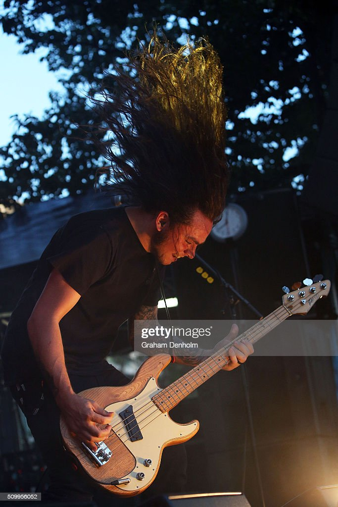 Luke Henery of Violent Soho performs at St Jerome's Laneway Festival on February 13, 2016 in Melbourne, Australia.