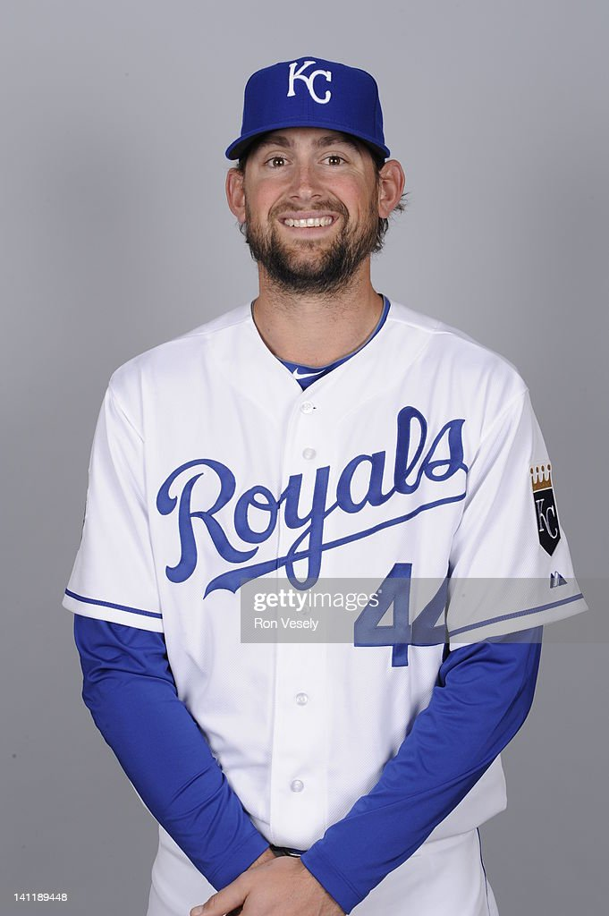 <a gi-track='captionPersonalityLinkClicked' href=/galleries/search?phrase=Luke+Hochevar&family=editorial&specificpeople=4167949 ng-click='$event.stopPropagation()'>Luke Hochevar</a> #44 of the Kansas City Royals poses during Photo Day on Wednesday, February 29, 2012 at Surprise Stadium in Surprise, Arizona.