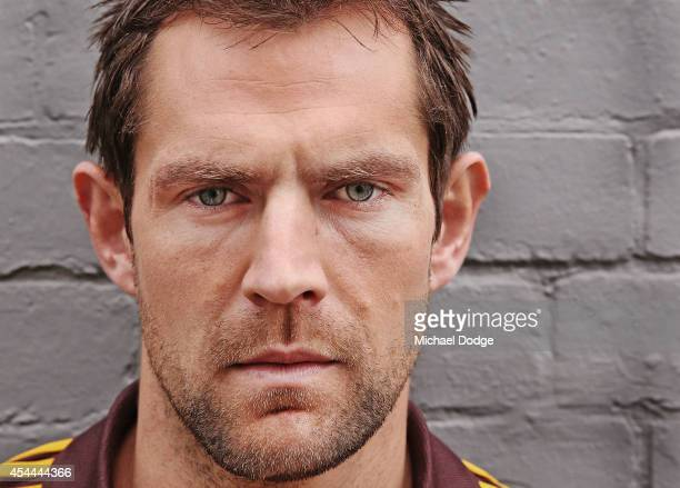 Luke Hodge of the Hawks poses during the AFL Finals Series Launch at Fox Footy on September 1 2014 in Melbourne Australia