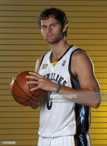 Luke Jackson of the Memphis Grizzlies poses for a portrait during NBA Media Day on September 27 2010 at at the FedExForum in Memphis Tennessee NOTE...