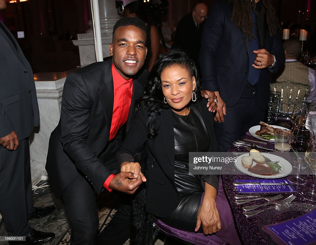 Luke James and Beverly Bond attend the 2013 Debra Lee Pre BET Honors Cocktails & Dinner at The Library of Congress on January 11, 2013 in Washington, DC.