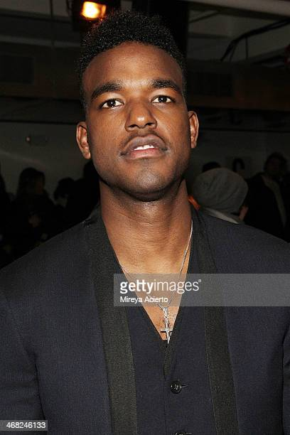 Luke James attends the Public School fashion show during MADE Fashion Week Fall 2014 at Milk Studios on February 9 2014 in New York City