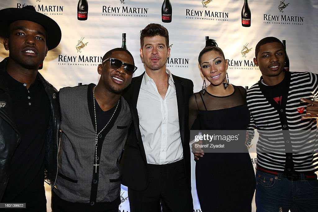 Luke James, Marcus Canty, <a gi-track='captionPersonalityLinkClicked' href=/galleries/search?phrase=Robin+Thicke&family=editorial&specificpeople=724390 ng-click='$event.stopPropagation()'>Robin Thicke</a>, Bridget Kelly and Deon Young attend the Remy Martin V.S.O.P Ringleader Culmination Event with <a gi-track='captionPersonalityLinkClicked' href=/galleries/search?phrase=Robin+Thicke&family=editorial&specificpeople=724390 ng-click='$event.stopPropagation()'>Robin Thicke</a> at Marquee on March 4, 2013 in New York City.