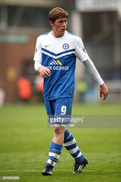 Luke James of Peterborough looks on during the Sky Bet League One match between Peterborough United and Port Vale at London Road Stadium on September...
