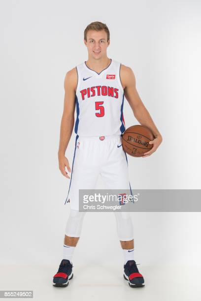 Luke Kennard of the Detroit Piston poses for a portrait during Media Day on September 25 2017 at the Little Caesars Arena Detroit MI NOTE TO USER...