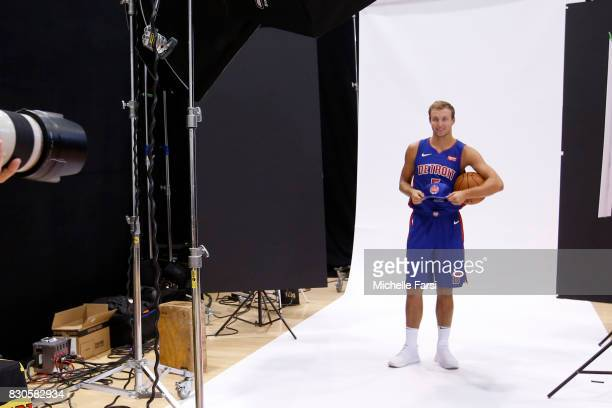Luke Kennard of the Detroit Pistons behind the scenes during the 2017 NBA Rookie Photo Shoot at MSG training center on August 11 2017 in Tarrytown...