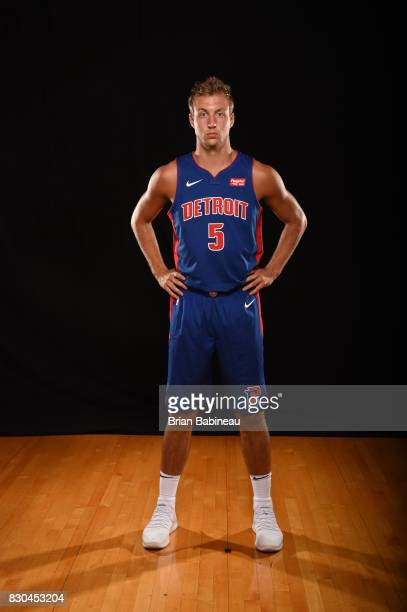 Luke Kennard of the Detroit Pistons poses for a photo during the 2017 NBA Rookie Photo Shoot at MSG training center on August 11 2017 in Tarrytown...