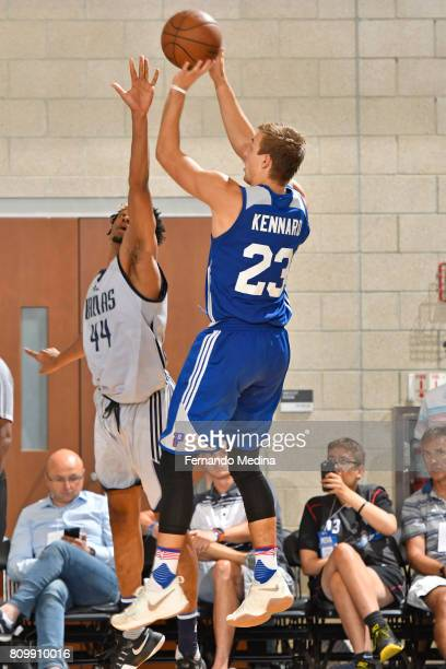 Luke Kennard of the Detroit Pistons shoots the ball against the Dallas Mavericks during the Mountain Dew Orlando Pro Summer League Championship Game...