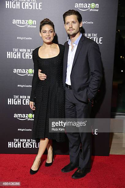 Luke Kleintank and Alexa Davalos attend the New York Series premiere of 'The Man In The High Castle' at Alice Tully Hall on November 2 2015 in New...