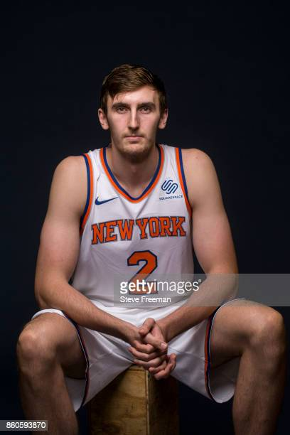 Luke Kornet of the New York Knicks poses for a portrait at the Knicks Practice Center on October 11 2017 in Tarrytown New York NOTE TO USER User...