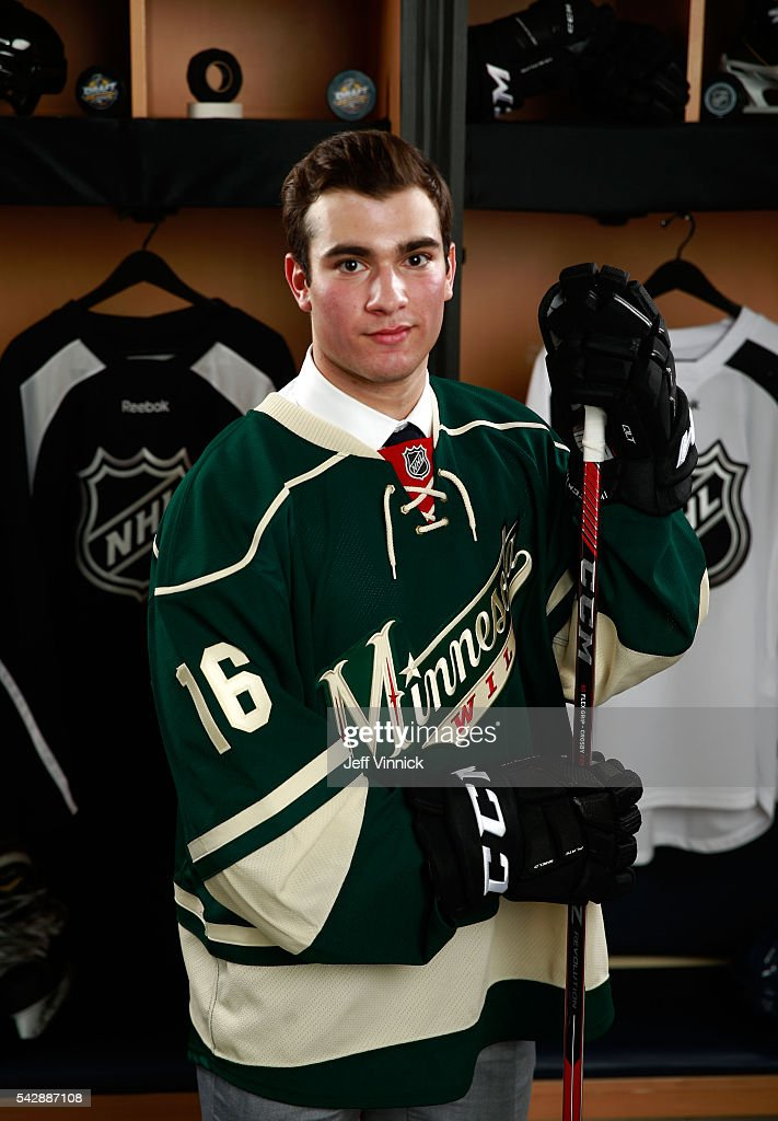 <a gi-track='captionPersonalityLinkClicked' href=/galleries/search?phrase=Luke+Kunin&family=editorial&specificpeople=13659941 ng-click='$event.stopPropagation()'>Luke Kunin</a>, selected 15th overall by the Minnesota Wild, poses for a portrait during round one of the 2016 NHL Draft at First Niagara Center on June 24, 2016 in Buffalo, New York.