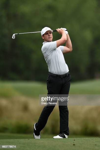 Luke List hits his approach shot on the sixth hole during the final round of the Shell Houston Open at the Golf Club of Houston on April 2 2017 in...